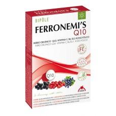 Bipole Ferronemi's 20 ampollas de 10 ml. hierro, acido folico, Vit. C, B6, B12, coenzima Q10