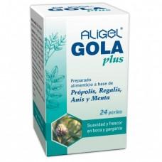 Aligel Gola plus 24 perlas  cuida tu garganta