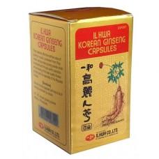 Panax Ginseng Coreano 100 capsulas de 500 mg. IL HWA KOREAN GINSENG Tongil